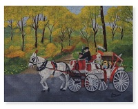 A horse-drawn carriage ride art makes a beautiful Puzzle
