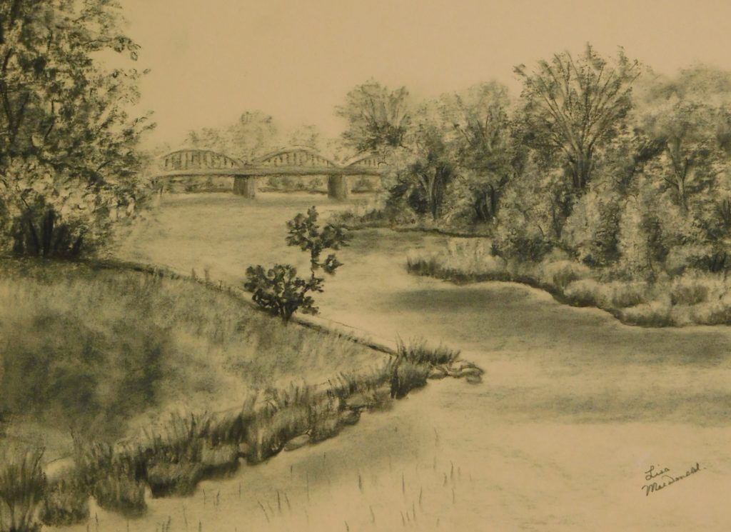 Grand River Caledonia in charcoal